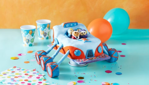 Truckster Celebration Cake