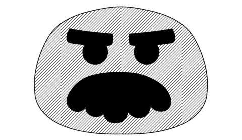 Tricky Ghoulish Glitch Pumpkin Stencil