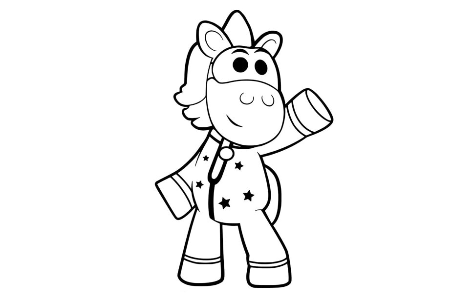 Printable Ubercorn colouring sheet