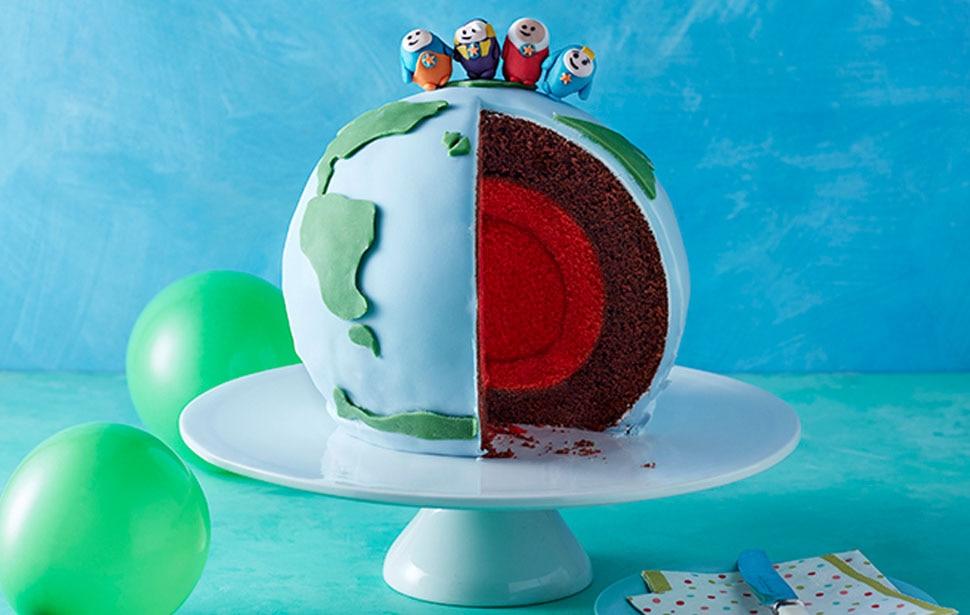 Go Jetters Globe Cake