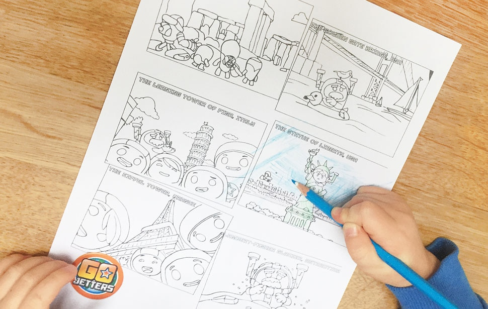 Go Jetters Line Drawing
