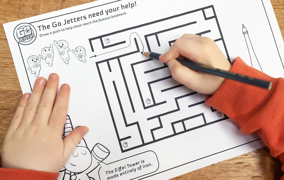Go Jetters Maze Sheets