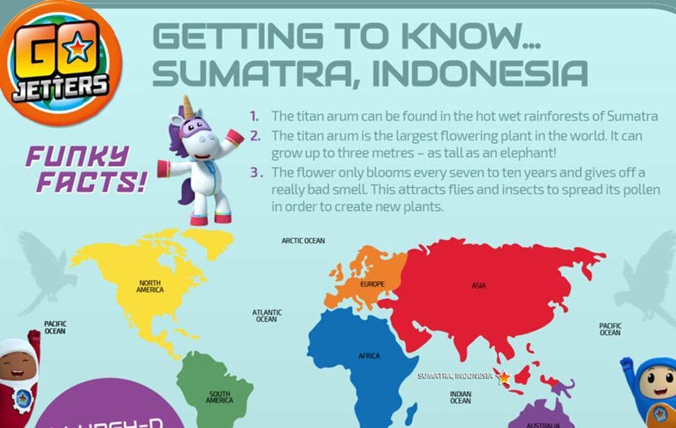 Go Jetters Sumatra Sheet