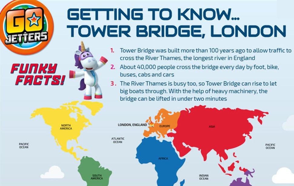 Go Jetters Tower Bridge London sheet