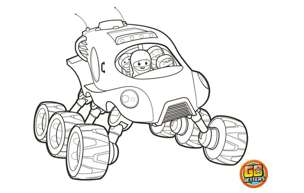 Printable Truckster colouring sheet