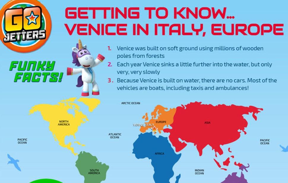 Go Jetters Venice sheet