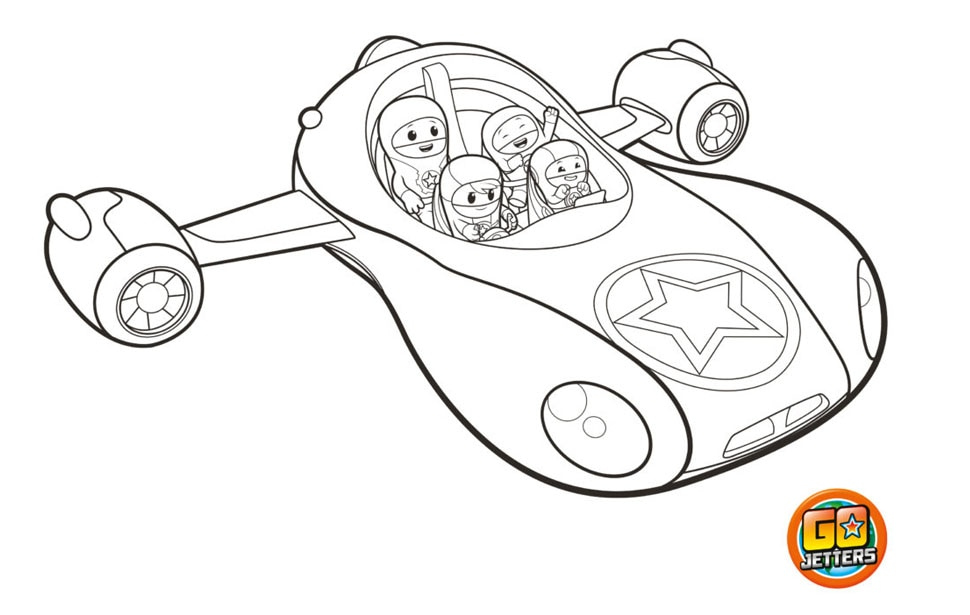 Printable Vroomster colouring sheet