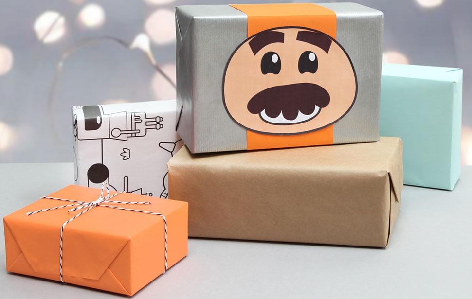 Go Jetters Glitch gift wrap