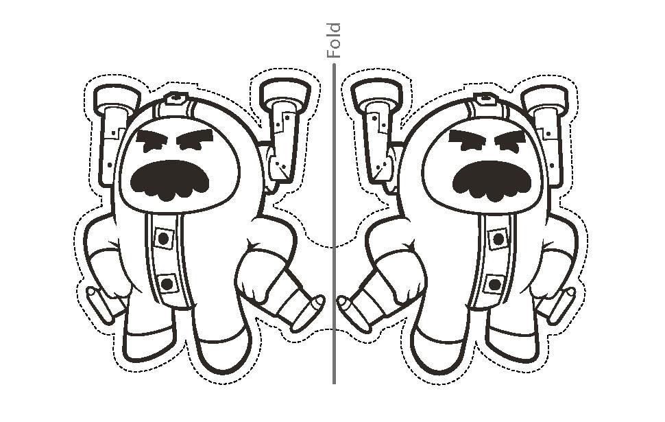 Printable Glitch finger puppet