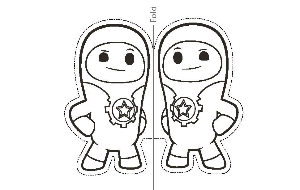 Printable Lars finger puppet