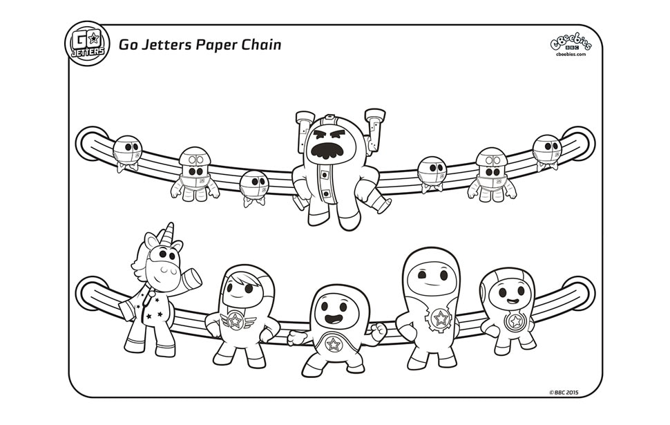 Go Jetters paper chain